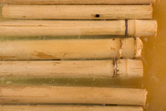Bamboo in wax usefus as background. Detail of candle - bamboo in wax usefus as background Stock Photo