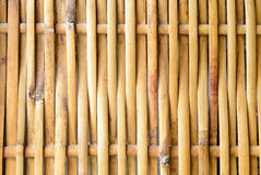 The bamboo weave. The handmade bamboo weave make to be the wall Royalty Free Stock Image