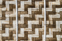 Bamboo weave. The abstract background from the bamboo weave Stock Photos