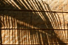 Bamboo weave background, bamboo wood texture. Bamboo wicker background, bamboo wood texture. Fence Stock Image