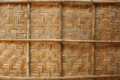 Bamboo weave background, bamboo wood texture. Bamboo wicker background, bamboo wood texture. Fence Royalty Free Stock Photos