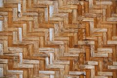 Bamboo weave background, bamboo wood texture. Bamboo wicker background, bamboo wood texture. Fence Royalty Free Stock Photo