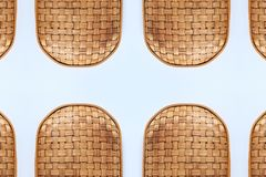 Bamboo weave Baskets texture and pattern. On White background Stock Photography