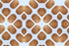 Bamboo weave Baskets texture and pattern. On White background Stock Images