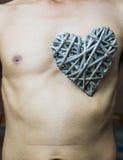 Bamboo weave  heart shape Royalty Free Stock Photography