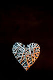 Bamboo weave  heart shape Stock Photo