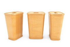 Bamboo Weave Laundry Baskets Stock Images