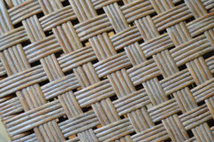 Bamboo weave. A bamboo weave makes a popular firm and airy chair Royalty Free Stock Photography