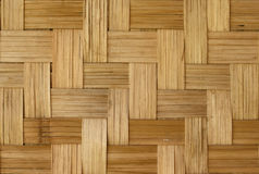 Bamboo weave pattern. For background Royalty Free Stock Photography