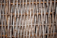 Bamboo weave pattern. On fence of vernacular architecture in South-East Asia Royalty Free Stock Photos