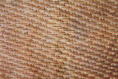Bamboo weave pattern. Oil bamboo weave pattern of handmade tray Royalty Free Stock Photo