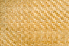 Bamboo weave pattern texture and background Stock Photography