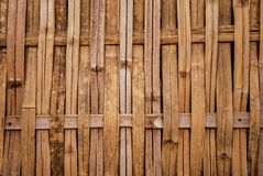 Bamboo weave pattern wall Stock Photography