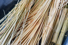 Bamboo for weave. Split bamboo for weave hands manuallyweavin Royalty Free Stock Photography