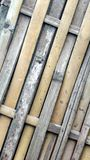 Bamboo weave stick Royalty Free Stock Photos