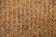 Bamboo weave texture background Royalty Free Stock Images