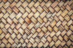 Bamboo weave texture background Royalty Free Stock Photos