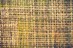 Bamboo weave texture pattern background Royalty Free Stock Photos