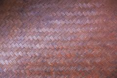 Bamboo weave texture. In thailand Stock Images
