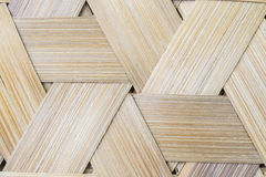 Bamboo weave triangle seamless background. Stock Image