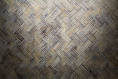 Bamboo weave wood with dirty fungus or mold. Stock Photos