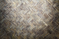 Bamboo weave wood from handmade crafts basket with dirty fungus or mold. Stock Images
