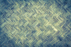 Bamboo weave wood from handmade crafts basket with dirty fungus or mold. Royalty Free Stock Images