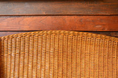 Bamboo weave with wood texture. Royalty Free Stock Images