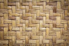 Bamboo weave wood texture pattern background. stock images
