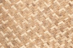 Bamboo weave wood texture pattern background from handmade crafts basket Royalty Free Stock Image
