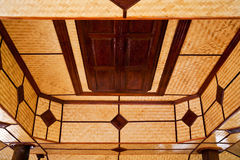 Bamboo weaved interior Stock Photos