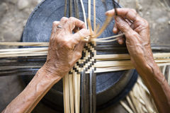 Bamboo weaving royalty free stock photos