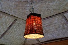 Bamboo Weaving Lamp Royalty Free Stock Image