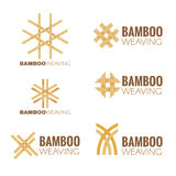 The Bamboo weaving logo vector set design Royalty Free Stock Images