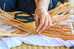 Bamboo weaving Royalty Free Stock Photos