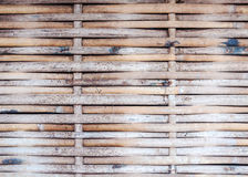Bamboo weaving wall Royalty Free Stock Photo
