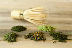 Free Bamboo Whisk And Green Tea Royalty Free Stock Images - 24589469