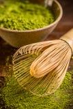 Bamboo whisk Stock Photo