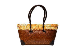 Bamboo wicker bag Stock Photography