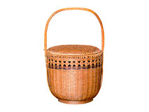 Bamboo wicker basket. Royalty Free Stock Image