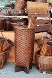 Bamboo wicker in the market Thai. Royalty Free Stock Image