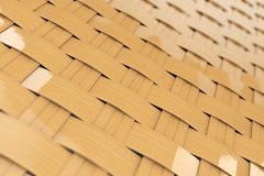 Bamboo wicker pattern as background. Extreme closeup royalty free stock photo