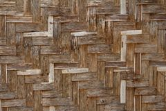 Bamboo wicker wall Stock Images
