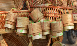 Bamboo wicker - Weave Royalty Free Stock Images