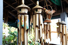 Bamboo wind chime. Decoration for indoor and garden Royalty Free Stock Images
