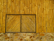 Bamboo window Stock Photo