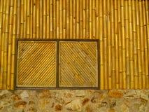 Bamboo window Stock Photo