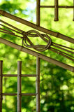 Bamboo window pane of teahouse, Kyoto Japan. A picture at Japanese garden`s teahouse in Kyoto Japan. window pane made from bamboo art Royalty Free Stock Image