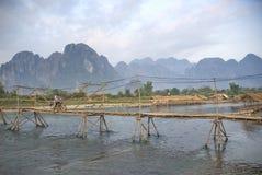 Bridge in vang vieng laos Stock Photo