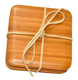 Bamboo Wood Coasters Royalty Free Stock Images